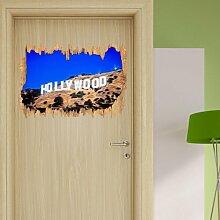 Wandtattoo Gewaltiger Hollywood-Schriftzug