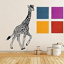 Wandtattoo Giraffe Safari Afrika Tier Fototapete Vinyl Aufkleber Schlafzimmer Dekoration für Zuhause Badezimmer Kinderzimmer Wandsticker Wandbilder Wandaufkleber