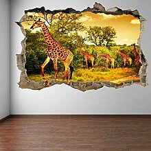 wandtattoo Giraffen afrikanische Wildtiersafari