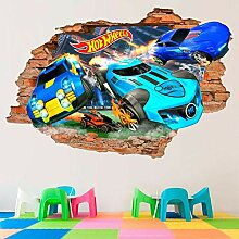 Wandtattoo Hot Wheels 3D Wandtattoos, Spielzeug