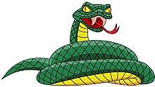 Wandtattoo Jugendzimmer Schlange Wandsticker Kobra