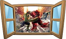 Wandtattoo Kinder Fenster Avengers OEM 1071, 120x72cm