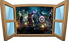 Wandtattoo Kinder Fenster Avengers OEM 1075, 120x72cm