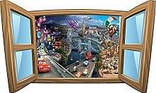 Wandtattoo Kinder Fenster Disney Cars OEM 960, 60x36cm