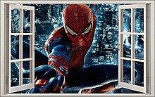 Wandtattoo Kinder Fenster Spiderman OEM 1062, 120x75cm