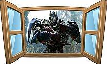 Wandtattoo Kinder Fenster Transformer OEM 986, 120x72cm