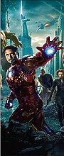 Wandtattoo Kinder Tür Avengers Iron Man OEM 15173, 73x204cm