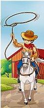 Wandtattoo Kinder Tür Cowboy OEM 1730, 63x204cm