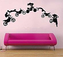 Wandtattoo Kinderzimmer Motorrad Stunt Motorrad