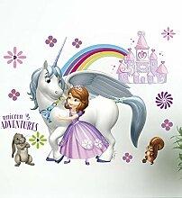 Wandtattoo Kinderzimmer Prinzessin Disney Sofia