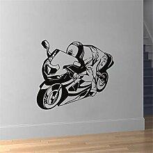 Wandtattoo Kinderzimmer Racer Riding Motorrad