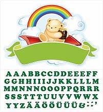 Wandtattoo Kinderzimmer Türaufkleber Bärchen mit