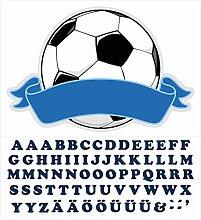 Wandtattoo Kinderzimmer Türaufkleber Fußball mit