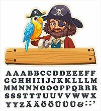 Wandtattoo Kinderzimmer Türaufkleber Piraten mit
