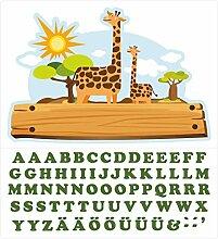 Wandtattoo Kinderzimmer Türaufkleber Safari mit