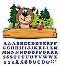Wandtattoo Kinderzimmer Türaufkleber Waldtiere