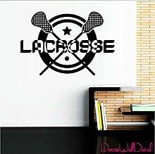 Wandtattoo Lacrosse Helm Sport Zimmer Jugendliche