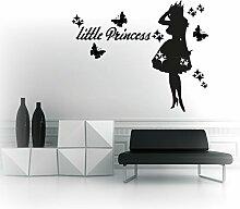 Wandtattoo little Princess Prinzessin Aufkleber