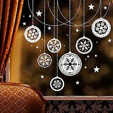 Wandtattoo Loft Fensteraufkleber Weihnachtskugeln
