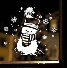 """Wandtattoo Loft Fensterbild """"Schneemann mit"""
