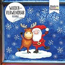 Wandtattoo Loft Fensterbild Weihnachten Elch und
