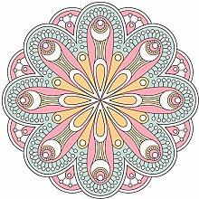 Wandtattoo Mandala Blüte mit Frühlingsfarben