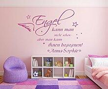 Wandtattoo mit Namen und Sternen ~ Spruch: Engel