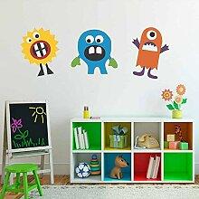 Wandtattoo Monster Aufkleber Cartoon Vinyl Kinder
