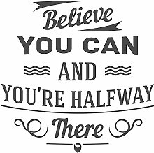 Wandtattoo Motivation Spruch Believe you can and