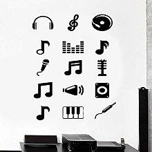 Wandtattoo Musik Melodie Musik Note Applique