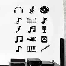 Wandtattoo Musik Melodie Musiknoten Aufkleber