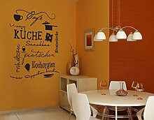Wandtattoo No.UL923 KüchenDoodles Eins WandSticker WandTattoo Küche Bar Kochen, Farbe:Weiß;Größe:153cm x 122cm