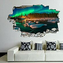 wandtattoo Nordlichter Naturansicht Wandkunst