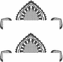 Wandtattoo Orientalische Türdekoration Flur