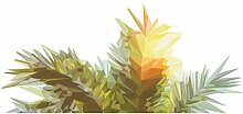 Wandtattoo Pflanze Tropische Blätter grün gelb
