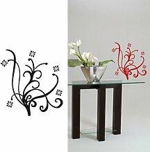 Wandtattoo Pflanze Verrückte Rot (Rouge romance)