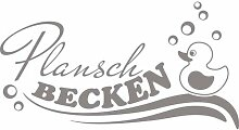 Wandtattoo Planschbecken, Badeente East Urban Home