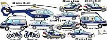 wandtattoo polizei kinderzimmer Hubschrauber