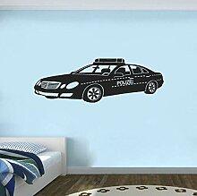 Wandtattoo Polizeiauto Wandsticker Polizei Vinyl