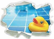 Wandtattoo Quietsche Ente im Bad
