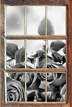 Wandtattoo Rosenstrauß auf Holztisch East Urban