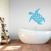 Wandtattoo Schildkröte 80x79 cm blau Wandtattoos