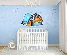 Wandtattoo Schlafen Garfield Cartoon GROSSE VINYL