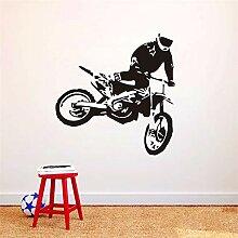 Wandtattoo Schlafzimmer Aufkleber Kunst Motocross