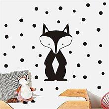 Wandtattoo Schlafzimmer Fox Kreis Punkte Cartoon