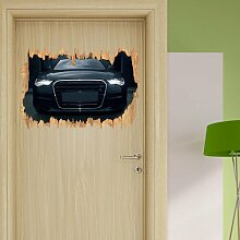Wandtattoo Schwarzer böser Audi