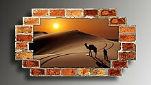 Wandtattoo selbstklebend Wüste Wandaufkleber
