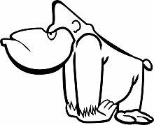 Wandtattoo - Spruch: Affe, Gorilla, Tiermotiv,