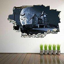 wandtattoo Spukhaus Fledermäuse 3D Wandkunst