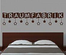 Wandtattoo Traumfabrik Spruch Kinderzimmer Tür
